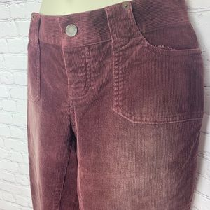 Like-New Corduroy Abercrombie Berry low rise Jeans